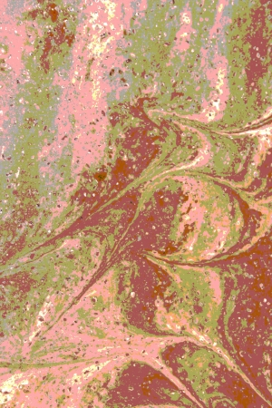 The surface of polished marble paints a pleasing abstract pattern