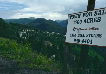 A town in Colorado goes on the block.