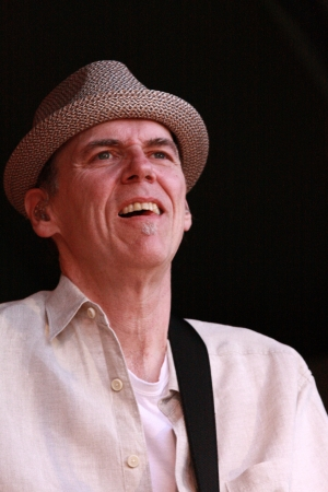 John Hiatt performs his rock and roll magic for an appreciative music festival audience. Editorial