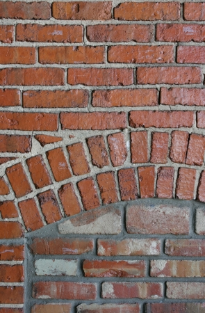 Building bricks form a background pattern