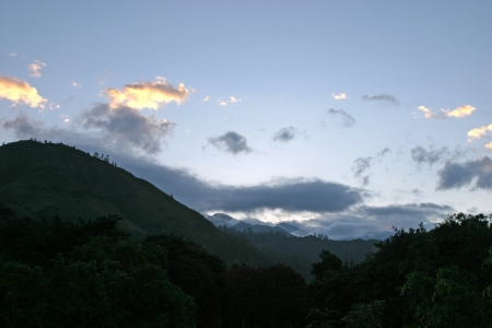 Moments before sunrise in the Andes Mountains of Ecuador