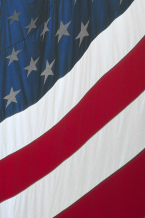 citizenry: A closeup of Old Glory   Stock Photo