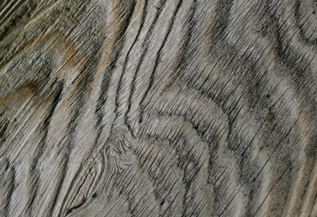 A section of weathered wood forms an abstract, wavy pattern  Stock Photo