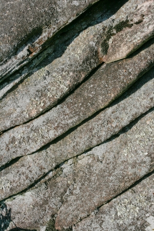 Layered rock creates an abstract pattern