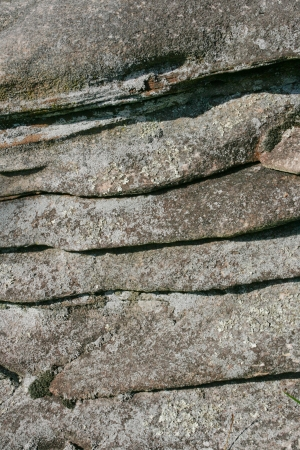 Layers of rock create an abstract pattern