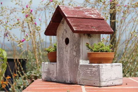 planter: Garden Birdhouse Planter