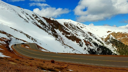 pikes peak drive stock photo picture and royalty free image image