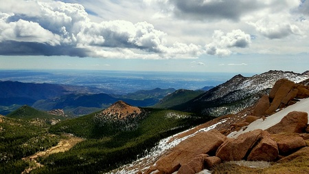 Pikes Peak Lookout Stock Photo