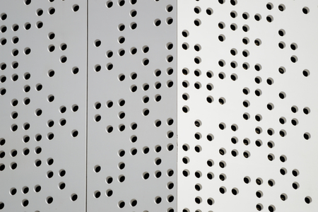 defining: Dots defining an abstract modern architecture background. Empty copy space for editors text. Stock Photo
