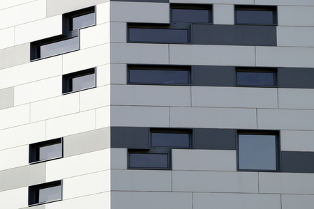 personal perspective: Diagonal lines defining an abstract modern architecture background. Empty copy space for editors text.