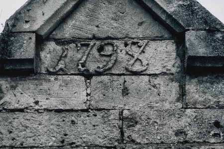Old stone wall of a 1798 bunker