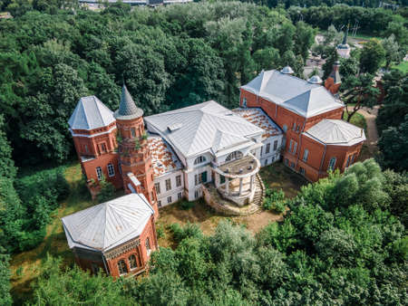 Beautiful old manor house surrounded by forest