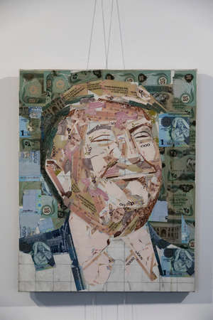 05/06/2021. Kazan. Russian Federation. A beautiful picture of unnecessary things. The painting depicts former US President Donald J. Trump.