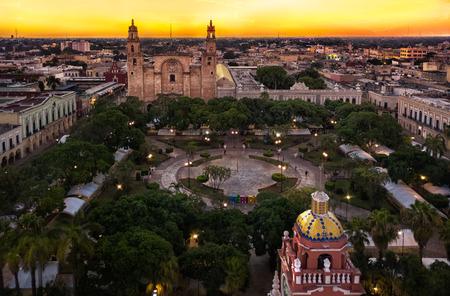 Vue sur la ville de Mérida au Mexique