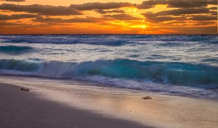 cancun beach waves Stock Photo