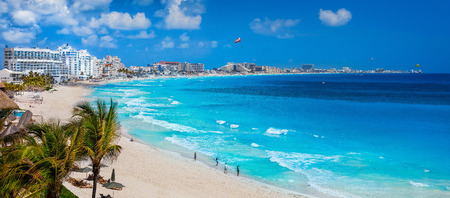 Cancun Beach Stock Photo