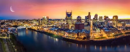 Landschap van Nashville Skyine