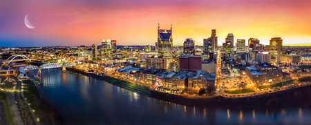 Scenery of Nashville Skyine Stock Photo
