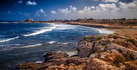 Caesarea in Israel 免版税图像