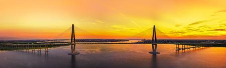 Charleston Brücke mit Sonnenuntergang