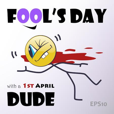 bobo: Tarjeta del d�a Fool s Vectores