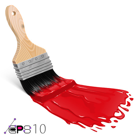 Red Brush Vector