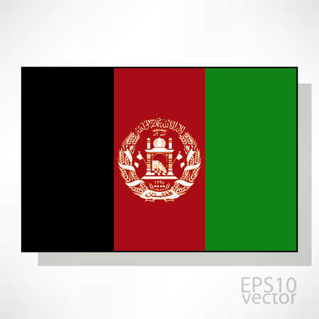 afghanistan flag: Afghanistan flag illustration