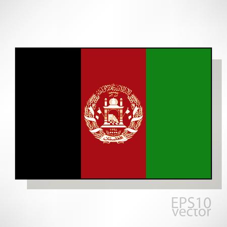 afghane: Afghanistan-Flagge Illustration Illustration