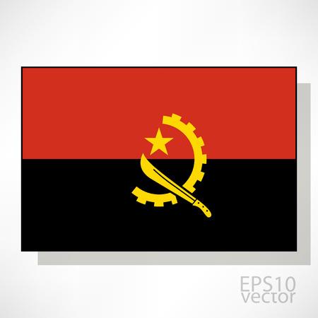 angola: Angola flag illustration