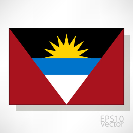 antigua flag: Antigua and Barbuda flag illustration