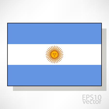 bandera argentina: Argentina ilustraci�n de la bandera