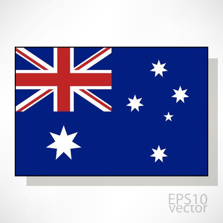 australia: Australia flag illustration Illustration