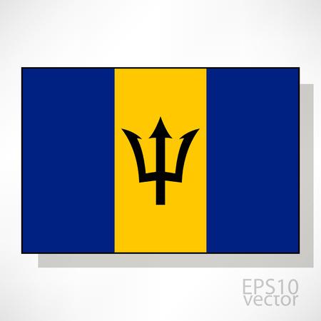 barbadian: Barbados flag illustration