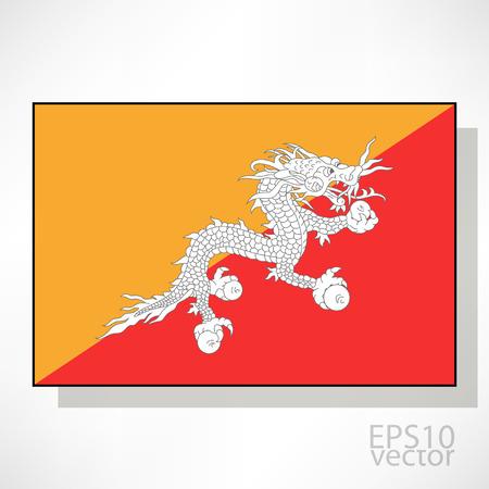 bhutan: Bhutan flag illustration