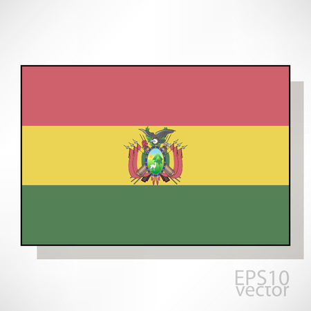 bandera bolivia: Bolivia ilustraci�n de la bandera