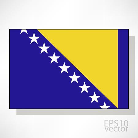 bosnia and herzegovina flag: Bosnia and Herzegovina flag illustration