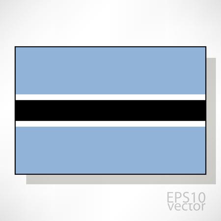 botswana: Botswana flag illustration Illustration