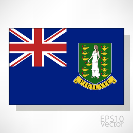 virgin islands: British Virgin Islands flag illustration Illustration