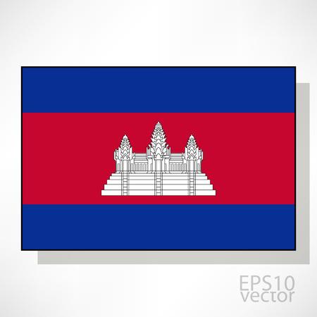 cambodia: Cambodia flag illustration Illustration