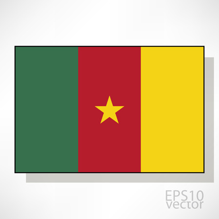 cameroon: Cameroon flag illustration Illustration