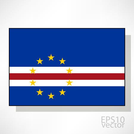 cape verde: Cape Verde flag illustration Illustration