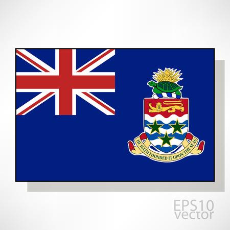 cayman: Iles Cayman drapeau illustration Illustration