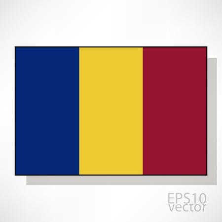 chadian: Chad flag illustration
