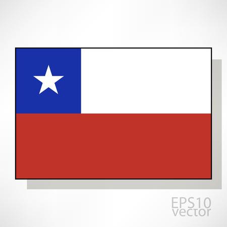 bandera de chile: Chile ilustraci�n de la bandera