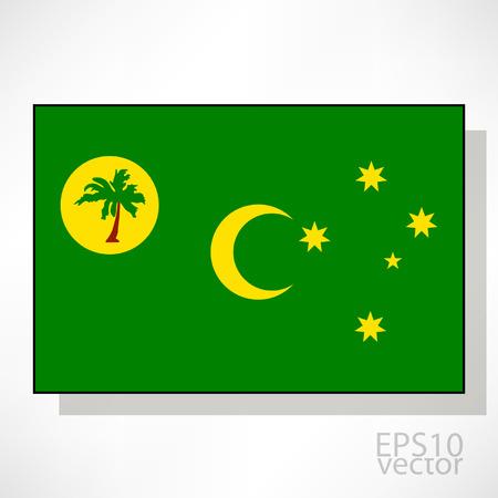 cocos: Cocos Islands flag illustration Illustration