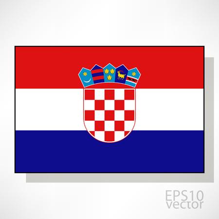 bandiera croazia: Croazia bandiera illustrazione Vettoriali