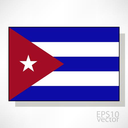 bandera cuba: Cuba ilustraci�n de la bandera Vectores