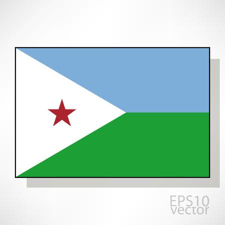 djibouti: Djibouti flag illustration Illustration