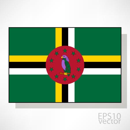 dominica: Dominica flag illustration