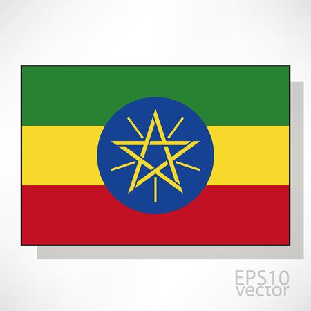 ethiopia flag: Ethiopia flag illustration